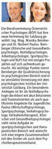 Leiterin des Bürmooser Jugendzentrums (JUZ) zur Berufsvertretung Österreichischer Psychologen gewählt!