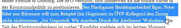 Salzburger Nachrichten 15.01.2014
