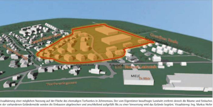 Neue Siedlung in Planung [Quelle Bürgermeisterbrief 02 2014,  Markus Hofer]