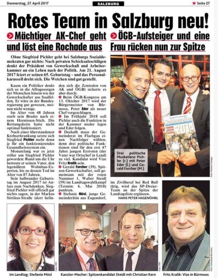 SPÖ Nachwuchshoffnung Fritz Kralik